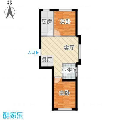 龙潭官邸63.00㎡F户型2室2厅1卫