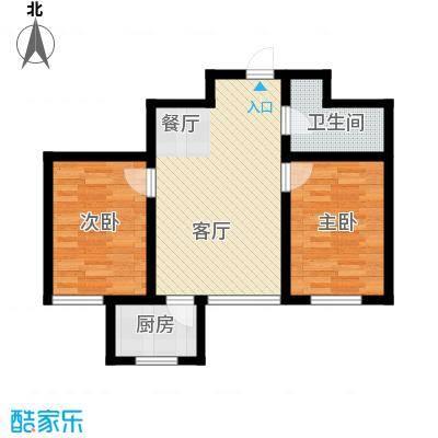 龙潭官邸76.00㎡L户型2室2厅1卫