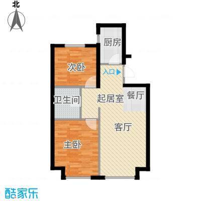 中国铁建・青秀蓝湾M户型2室1卫1厨