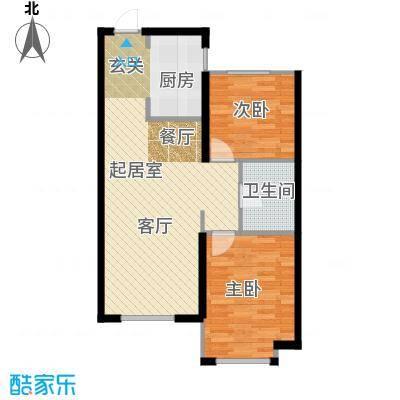 中国铁建・青秀蓝湾L户型2室1卫