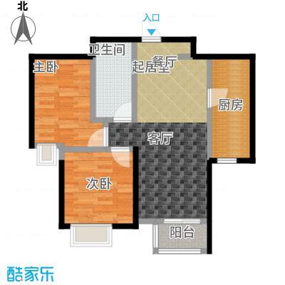 大连天地・悦丽海湾B13R1户型2室1卫1厨