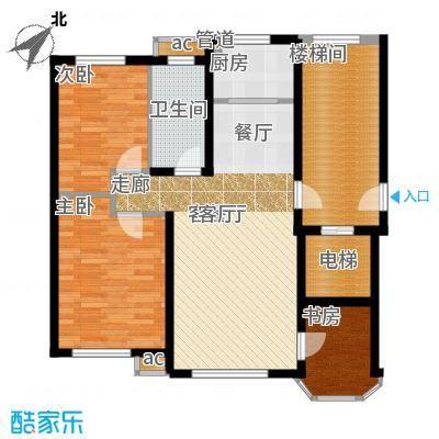 欧尚广场90.00㎡B8号楼C2户型90㎡三室两厅一卫户型3室2厅1卫