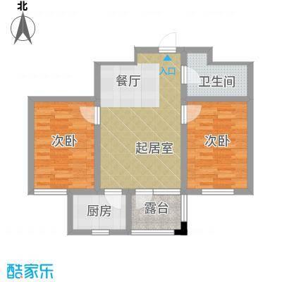 龙潭官邸76.00㎡K户型2室2厅1卫