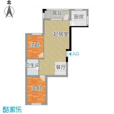 龙潭官邸82.00㎡J户型2室2厅1卫