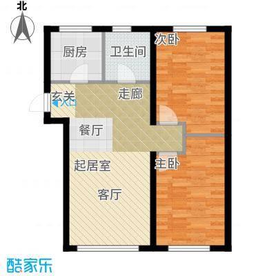 欧尚广场86.00㎡L户型两室两厅一卫86平米户型图户型2室2厅1卫