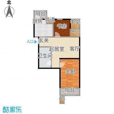 大连天地・悦翠台Style66.00㎡一室一厅一卫户型1室1厅1卫