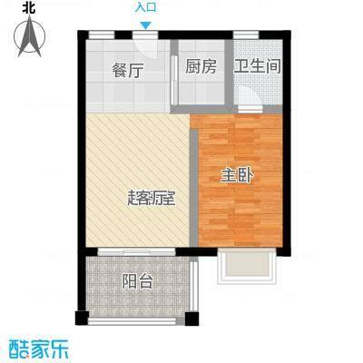 吉粮康城56.32㎡户型6户型1室2厅1卫