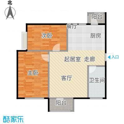 大连天地・悦翠台Style77.00㎡一室一厅一卫户型1室1厅1卫