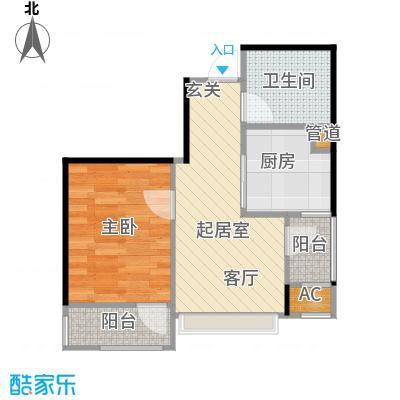 大连天地・悦翠台Style50.00㎡一室一厅一卫户型1室1厅1卫