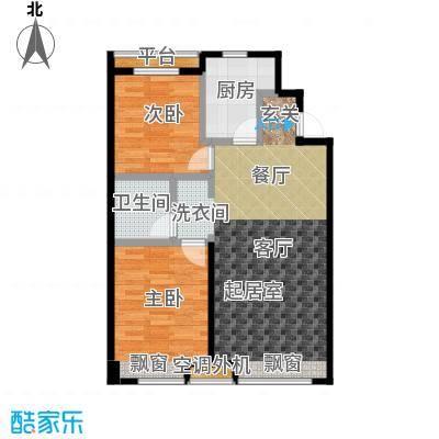 江山印象C户型90―92平米户型