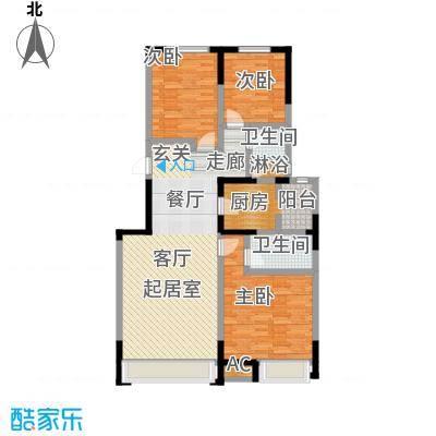 中海紫御江城中海・紫御江城盛景B2三室两厅两卫132平米户S