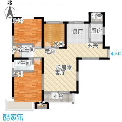 中海紫御江城御峰C1三室两厅两卫140平米户型图户型S