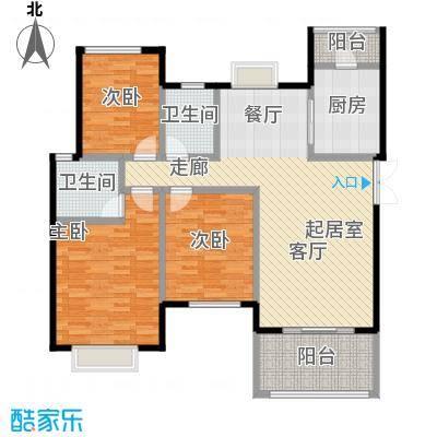 半山七号15号楼5FC5户型3室2卫1厨