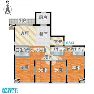 证大多伦多花园K户型四室两厅三卫190平户型
