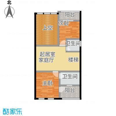 庆隆南山高尔夫国际社区75.12㎡钻石岛D二层户型2室2卫