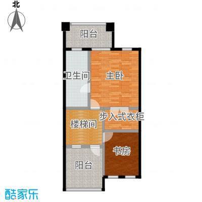 庆隆南山高尔夫国际社区70.17㎡钻石岛C三层户型2室1卫