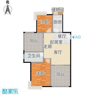 半岛阳光87.00㎡C1户型两房两厅户型2室2厅1卫