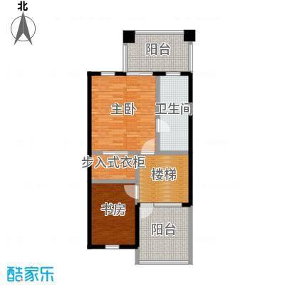 庆隆南山高尔夫国际社区68.59㎡钻石岛B三层户型2室1卫