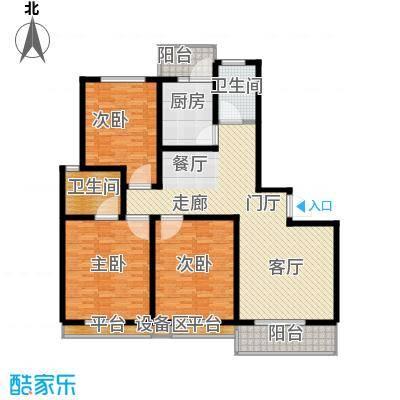 天骄华府三室两厅两卫151㎡户型3室2厅2卫