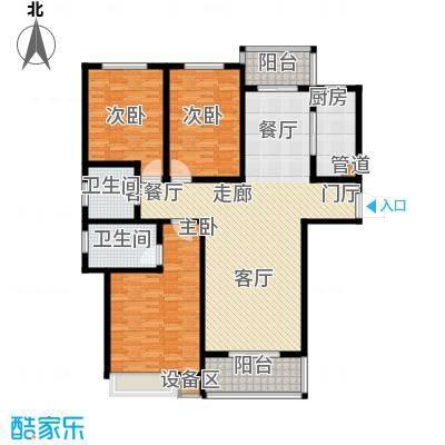 天骄华府三室两厅两卫155㎡户型3室2厅2卫