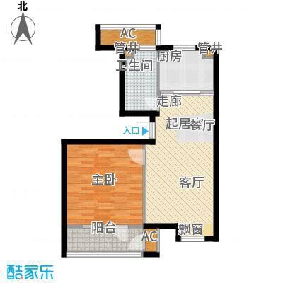 大连天地・悦翠台小高层户型1室1卫1厨