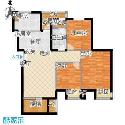 大连天地・悦翠台小高层户型3室1卫1厨