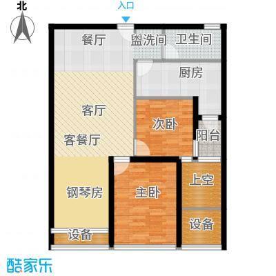红星国际广场96.00㎡96平米户型图户型3室2厅1卫