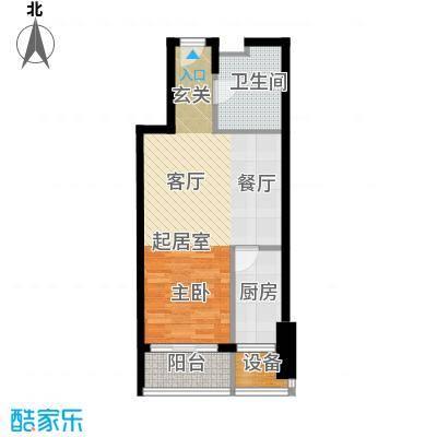 红星国际广场57.00㎡57平米户型图户型1室1厅1卫