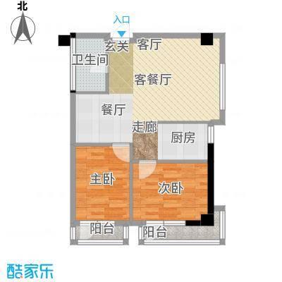 金州福佳新天地广场81.00㎡D户型 2室1厅户型