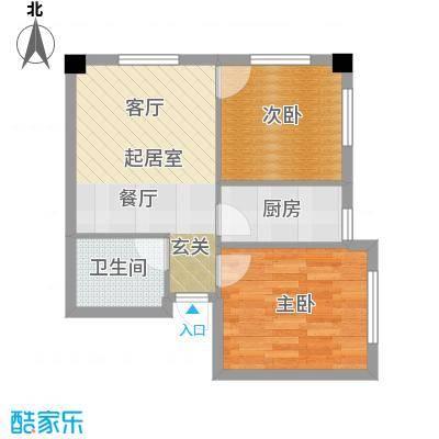 金州福佳新天地广场65.00㎡C户型 1室1厅户型