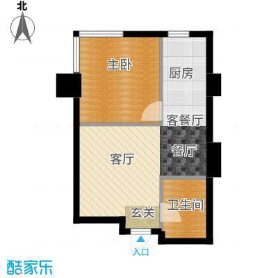 金州福佳新天地广场53.00㎡C户型 一室一厅一卫户型