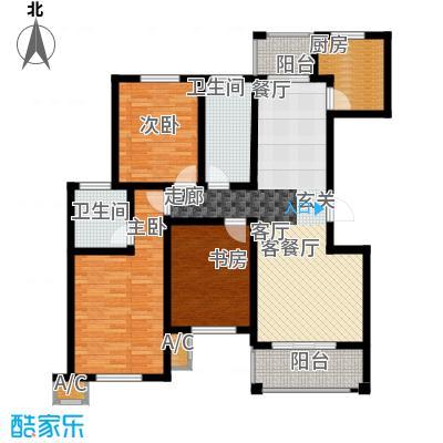 金石滩度假公园125.00㎡35平米三室两厅两卫户型图X