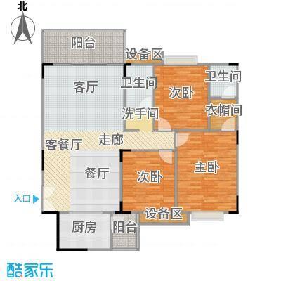 华桂园户型3室1厅2卫1厨