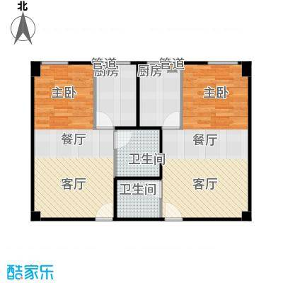 燕赵锦河湾52.00㎡A1户型1室1厅1卫