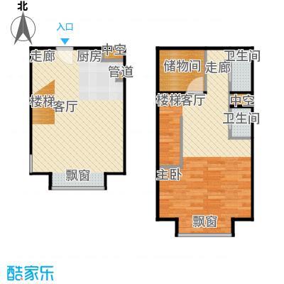 燕赵锦河湾78.00㎡C4户型1室1厅1卫