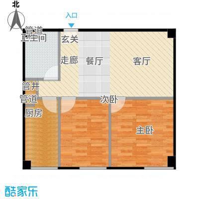燕赵锦河湾84.00㎡B1户型1室1厅1卫