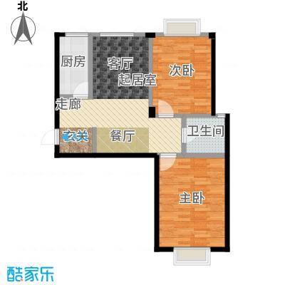 颐莲家园82.00㎡D户型2室2厅1卫
