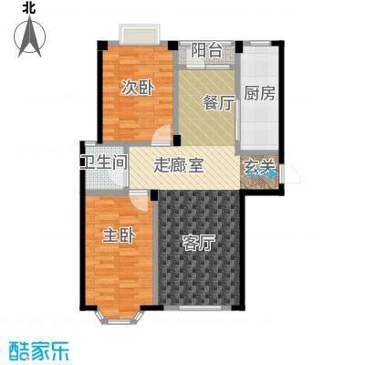 颐莲家园95.00㎡C户型2室2厅1卫