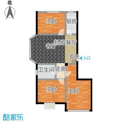 颐莲家园106.86㎡I户型3室2厅1卫