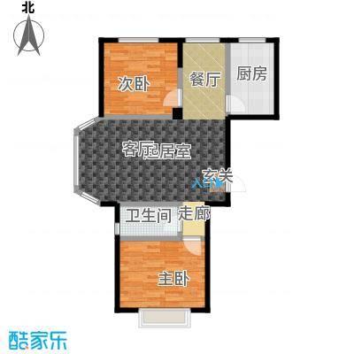 颐莲家园89.00㎡E户型2室2厅1卫