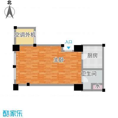 新城帝景61.94㎡61.94平米1室1厅1卫户型1室1厅1卫