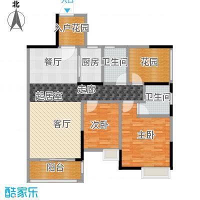 汇景御泉香山96.00㎡78、79栋03、04户型2室2卫1厨