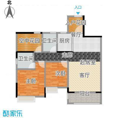 汇景御泉香山98.00㎡71栋2单元04户型2室2卫1厨