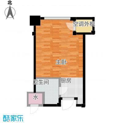 新城帝景34.88㎡34.88平米1室1厅1卫户型1室1厅1卫
