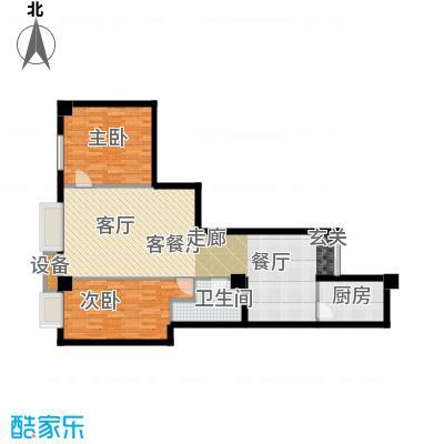 金丰大厦94.32㎡E户型2室2厅1卫1厨户型2室2厅1卫