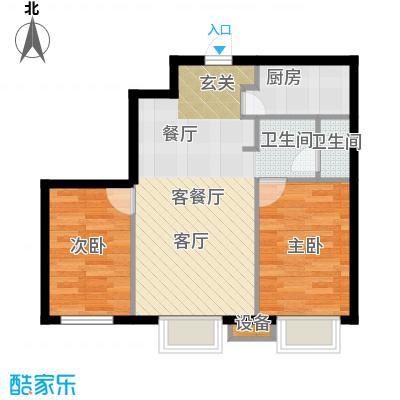 金丰大厦83.32㎡B户型2室1厅1卫1厨户型2室1厅1卫