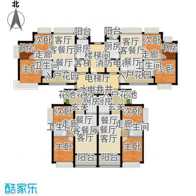 恒大御湖37栋2单元户型9室4厅4卫4厨
