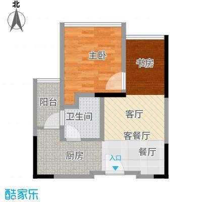 中央财津45.00㎡户型1室1厅1卫
