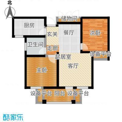 华润国际社区88.00㎡三期88㎡毛坯F户型2室2厅1卫