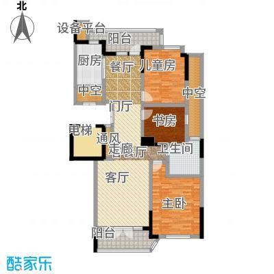 绿城百合公寓户型3室1厅1卫1厨